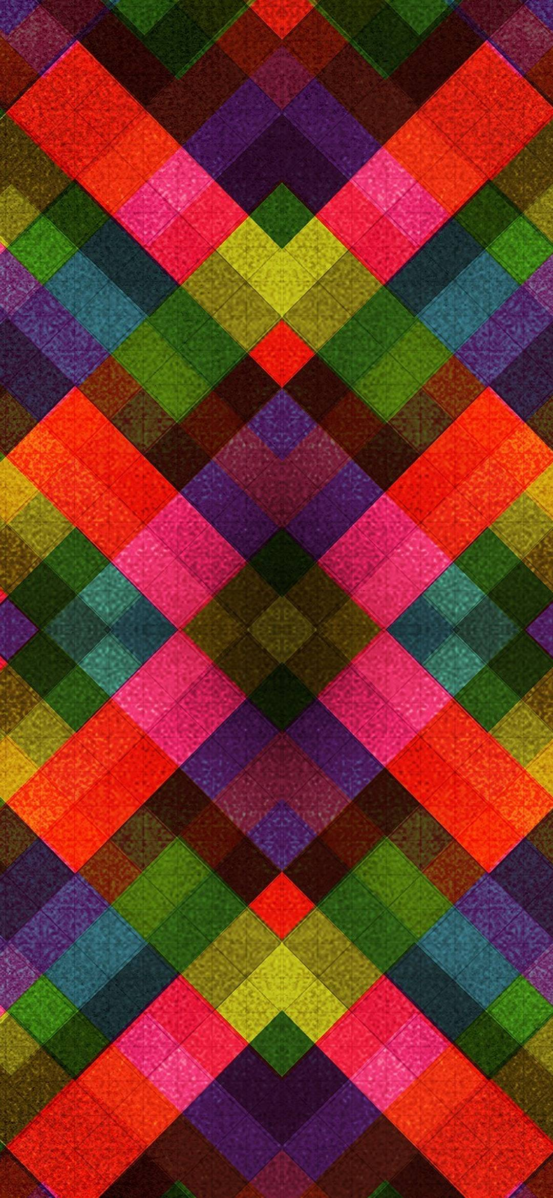 Abstract Multicolor Patterns Retro - [1080x2340]