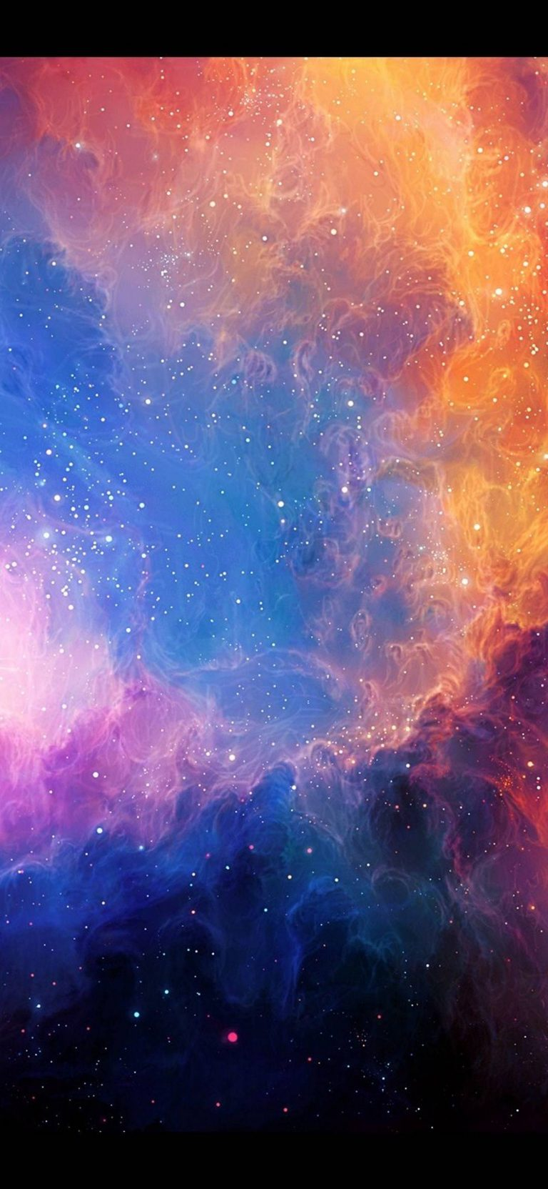 Abstract Outer Space Stars Nebulae 1080x2340 768x1664