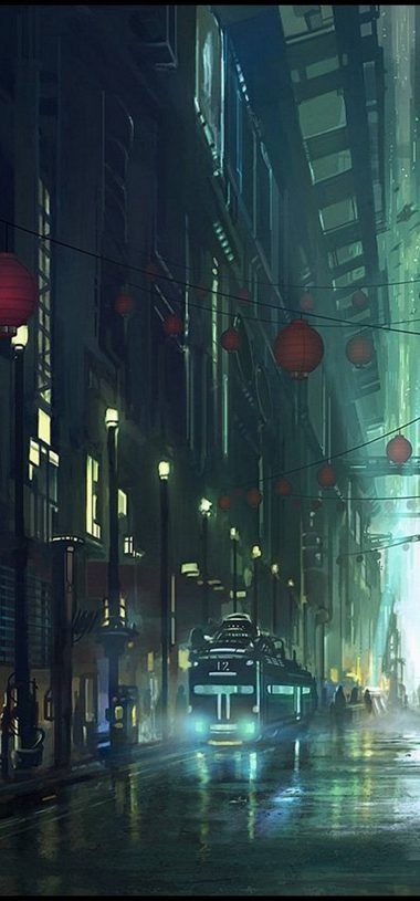 Artistic Night Wallpaper 1080x2316 380x815