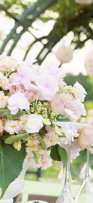 Bouquet Flowers Pink 1080x2340 380x823