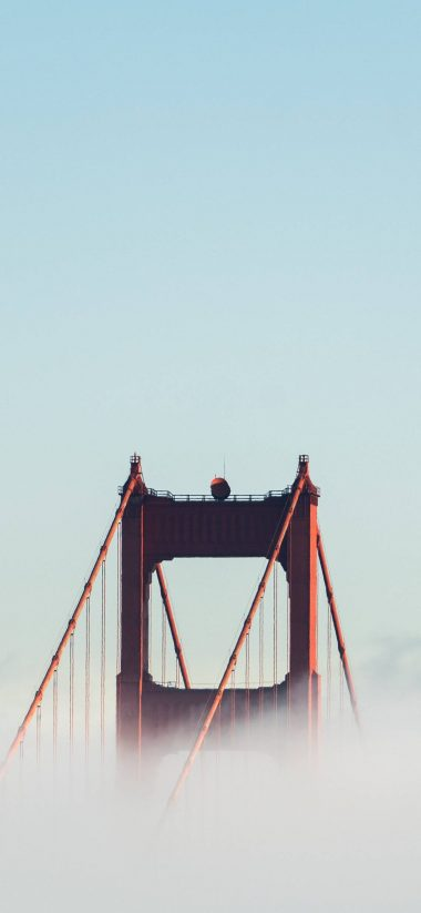 Bridge Touching The Sky. Wallpaper 1080x2340 380x823