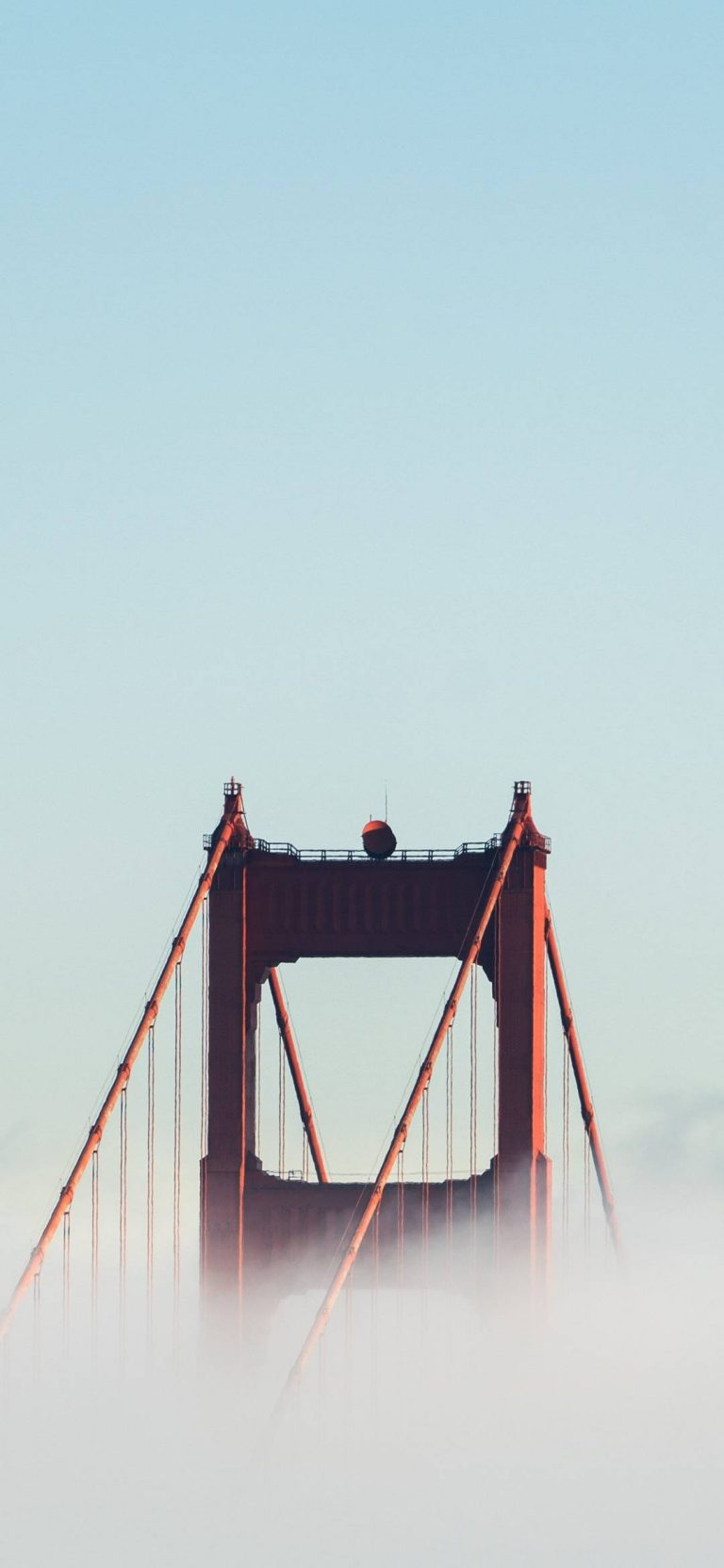 Bridge Touching The Sky. Wallpaper 1080x2340 768x1664