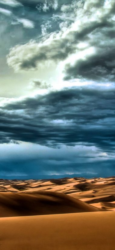 Clouds Landscapes Nature Desert 1080x2340