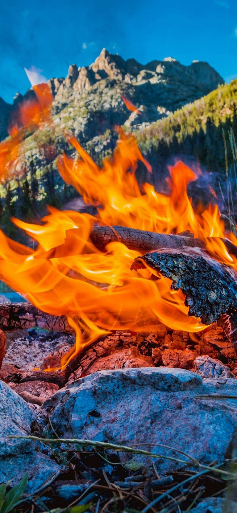 Flame With Stones On Rock Wallpaper 1080x2340 768x1664