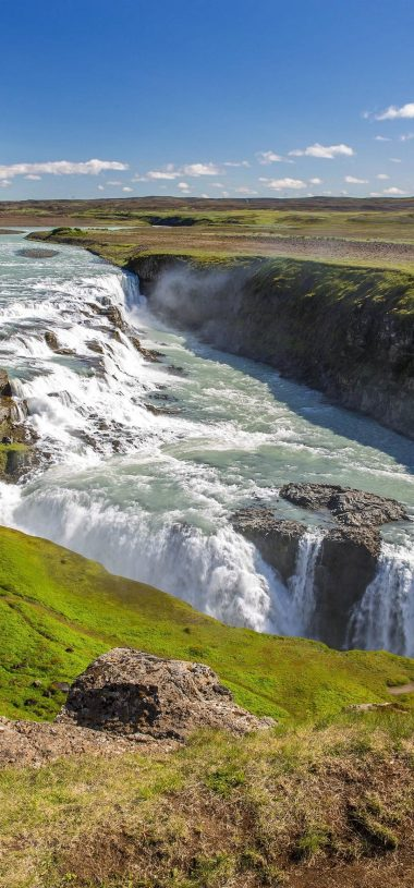 Gullfoss Beautiful Waterfall In Iceland HD Wallpaper 1080x2316 380x815
