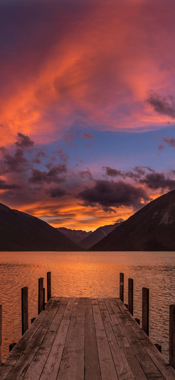 Lake Rotoiti New Zealand Wallpaper 1080x2340