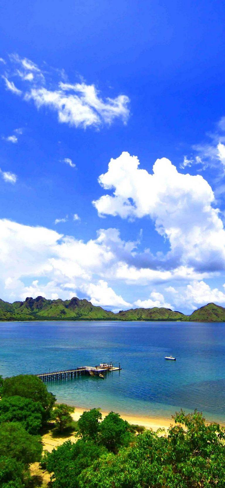Landscape Island Komodo Sea Ocean 1080x2340 768x1664