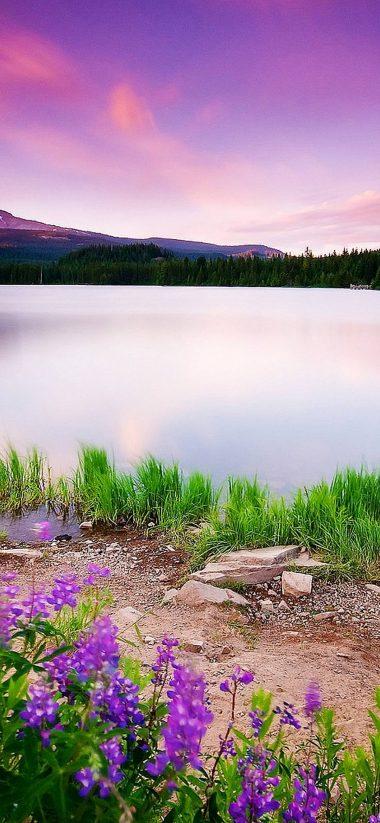 Mountain Lake And Sunset 1080x2340 380x823