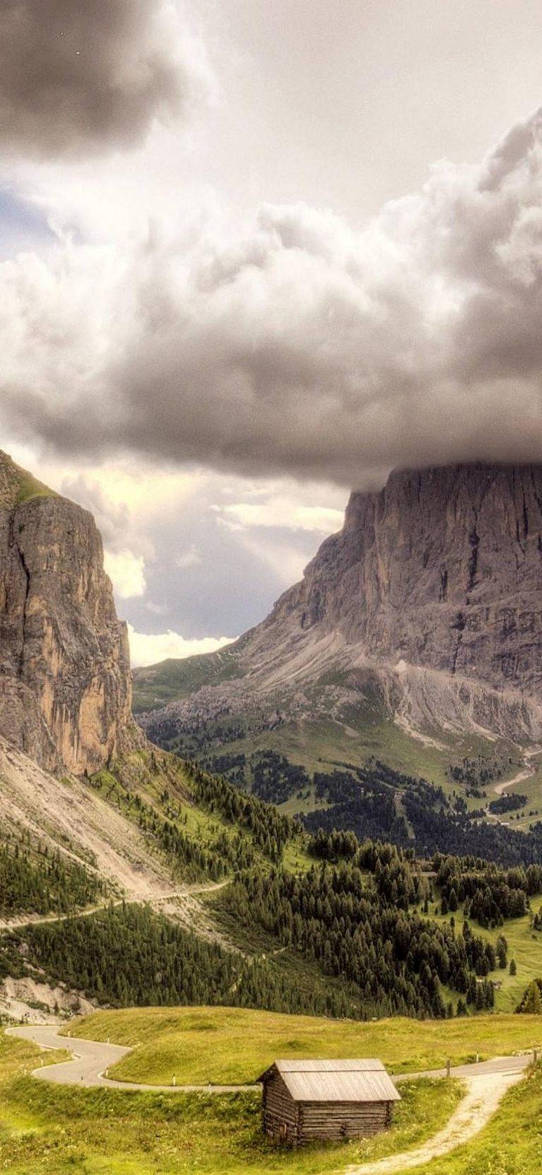 Mountains Clouds Landscapes 1080x2340 768x1664