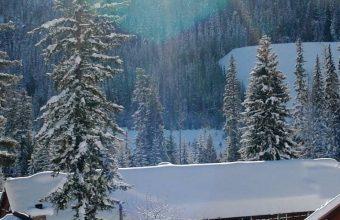 Mountains Houses Snow 1080x2340 340x220