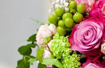 Pink Flowers Bouquet Leaves Roses 1080x2340 340x220
