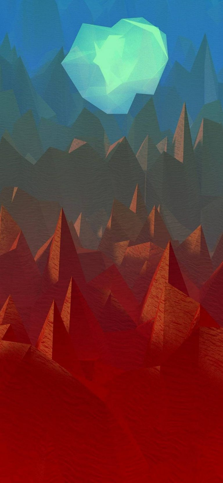 Polygon Art Abstract 1080x2340 768x1664