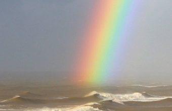 Rainbow On Sea Wallpaper 1080x2340 340x220