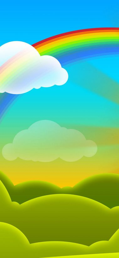 Rainbow Vector Cartoon Wallpaper 1080x2340 380x823