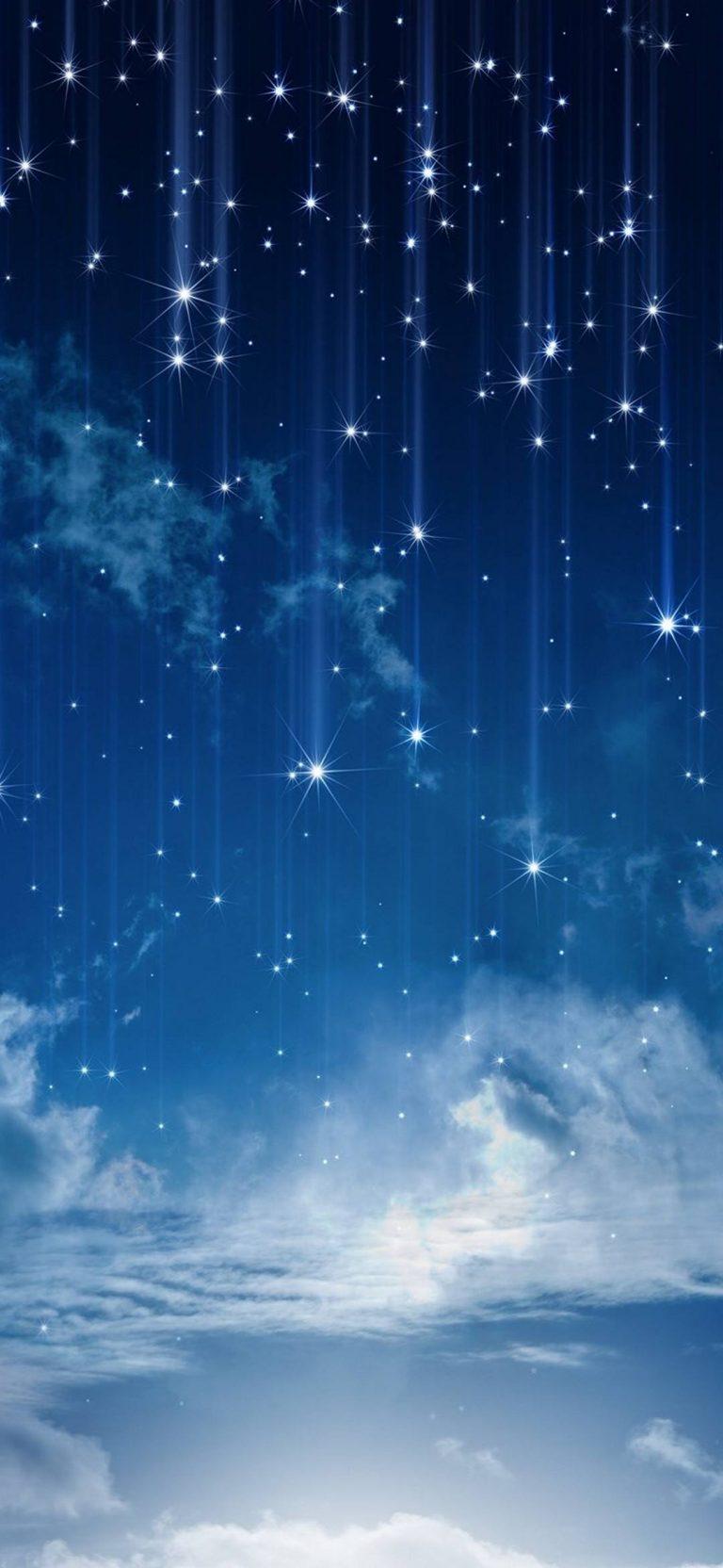 Sky Moonlight Nature Night Stars Clouds 1080x2340 768x1664