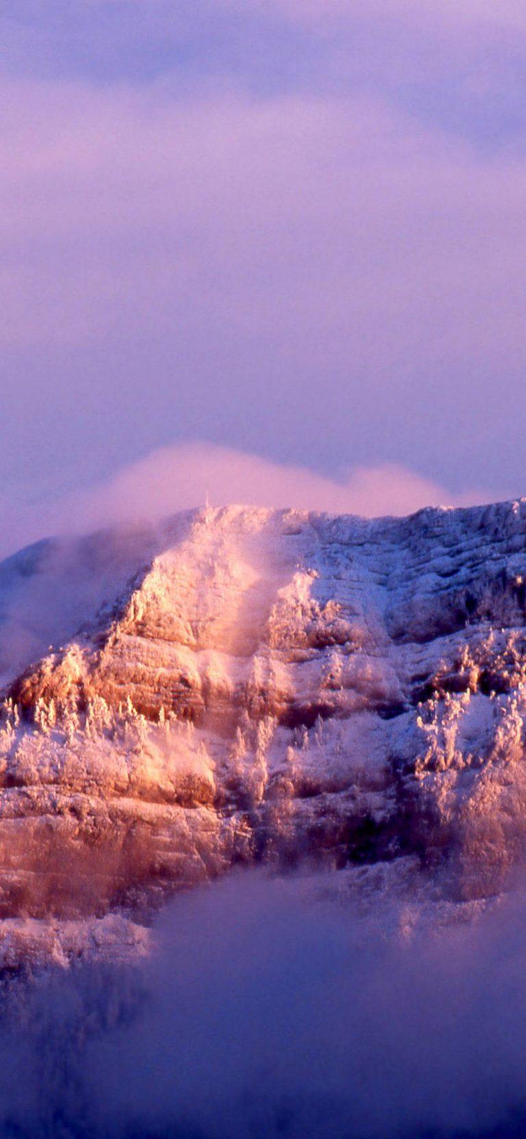 Snowy Peak In The Clouds 1080x2340 768x1664