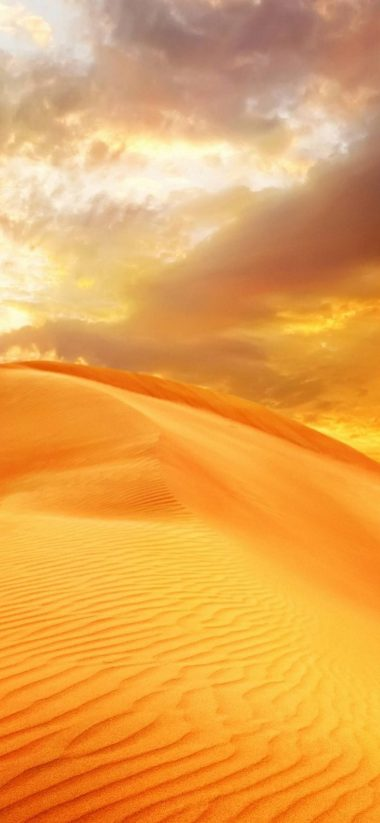 Sunrise Sand Landscape Clouds Nature 1080x2340 380x823