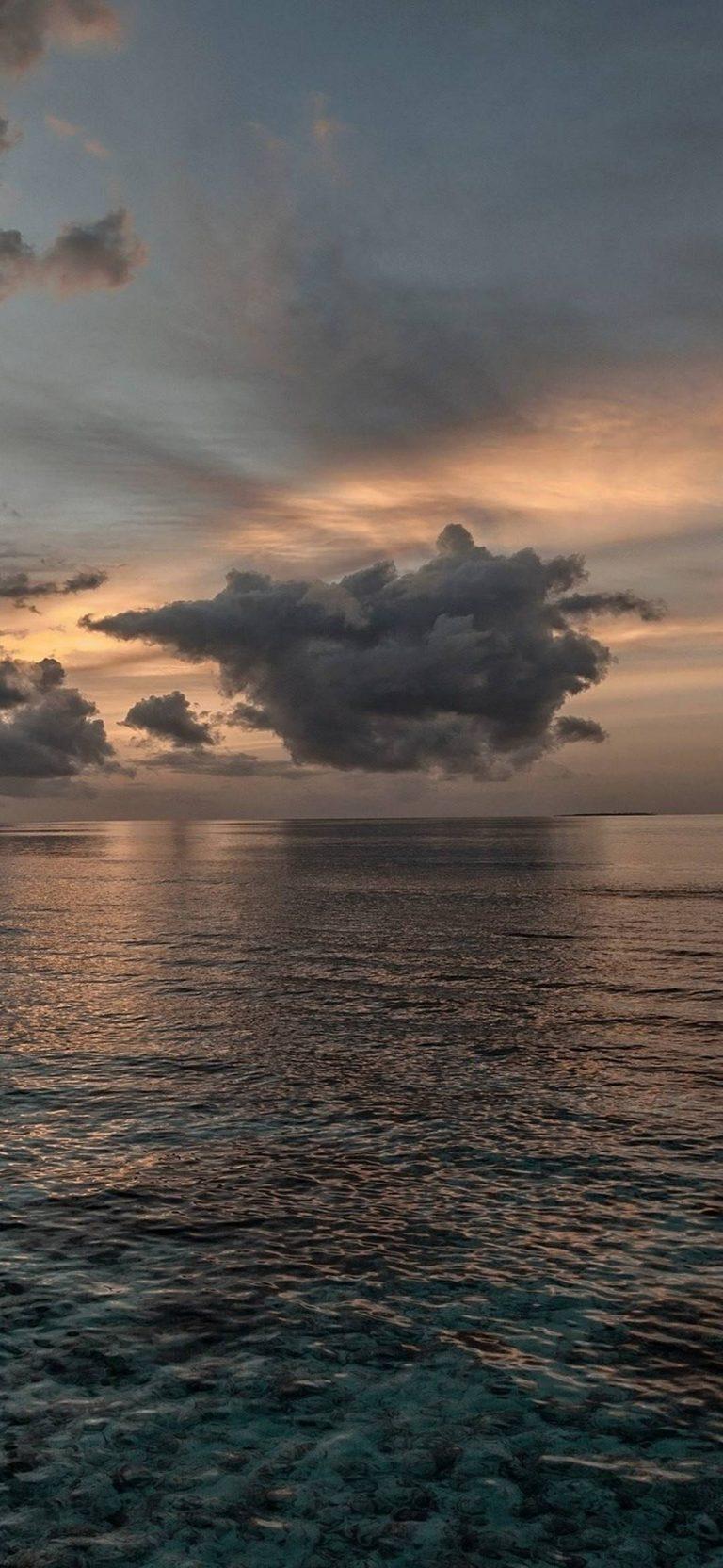 Sunset Sea Sky Ol Landscape 1080x2340 768x1664