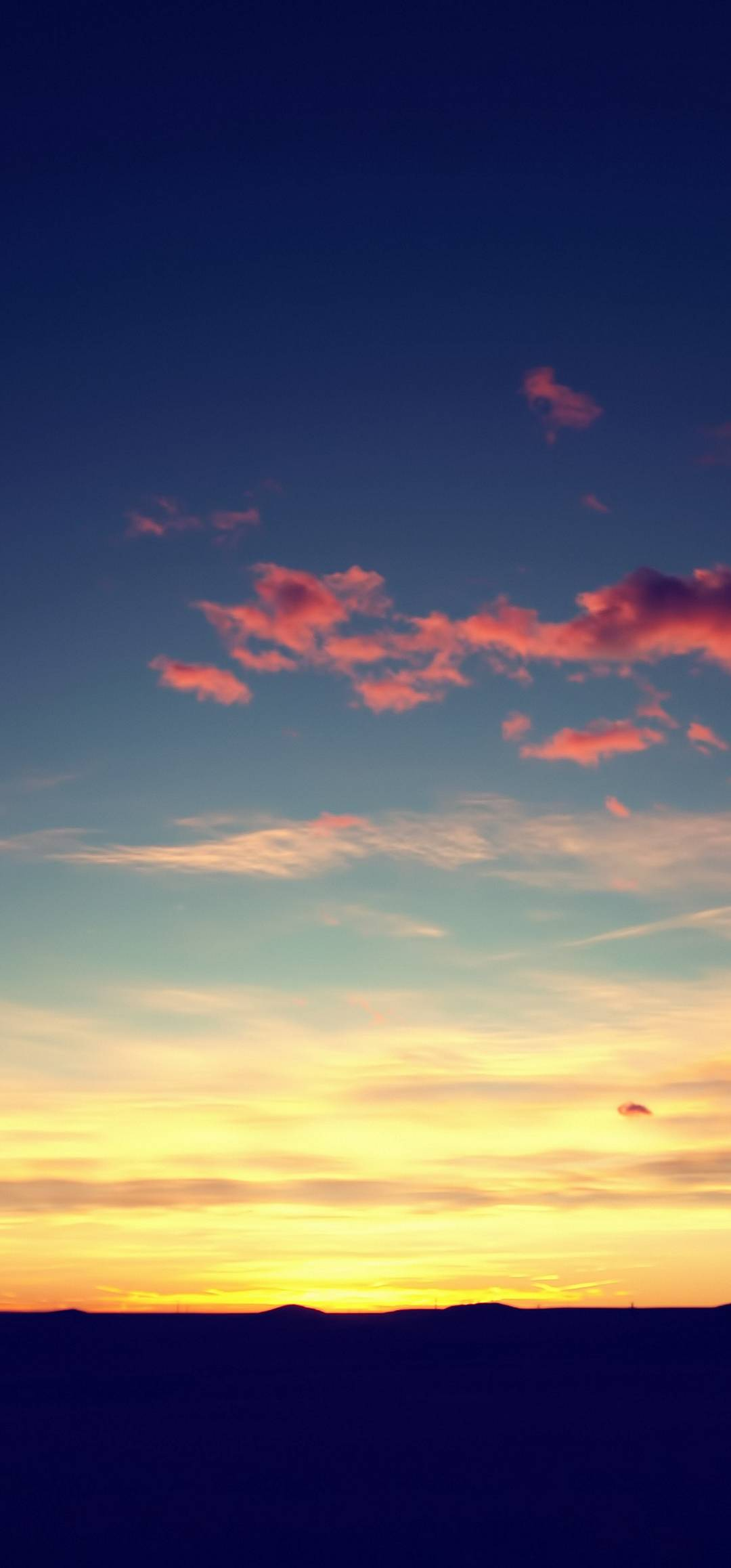 Sunset Sky Hd Wallpaper 1080x2316