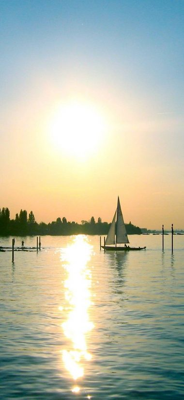 Sunset The Sailboat 1080x2340 380x823