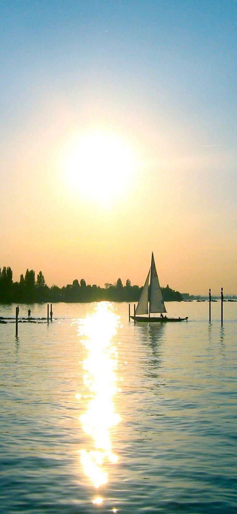 Sunset The Sailboat 1080x2340 768x1664