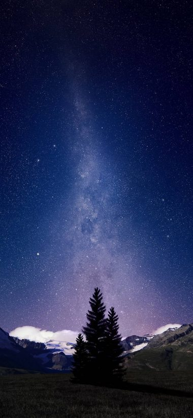 Swiss Alps Night Sky 1080x2340 380x823