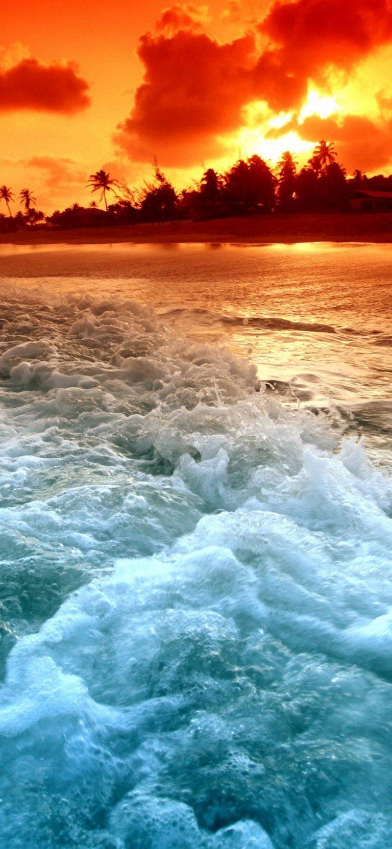 Tropical Beach Sunset 1080x2340 768x1664