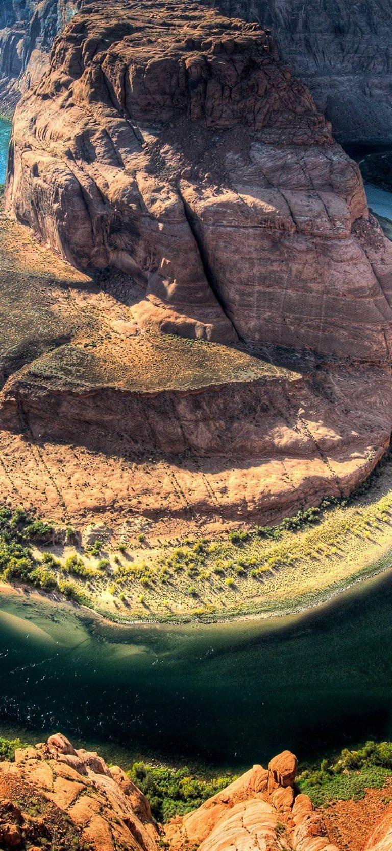 Water Nature Canyon Cliffs Horseshoe 1080x2340 768x1664