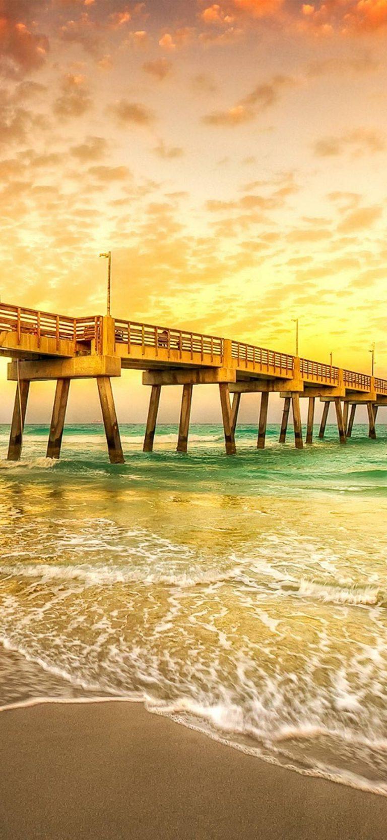 Water Sunset Sunrise Ocean Bridges 1080x2340 768x1664