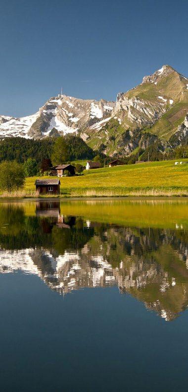 Nature Lake Landscape Reflection Fog 1080x2244 380x790