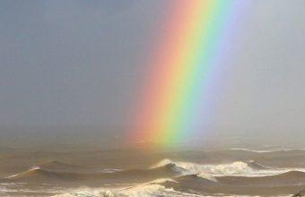 Rainbow On Sea Wallpaper 1080x2244 340x220