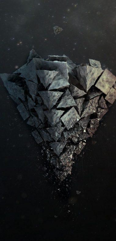Shards Stone Background 1080x2244 380x790
