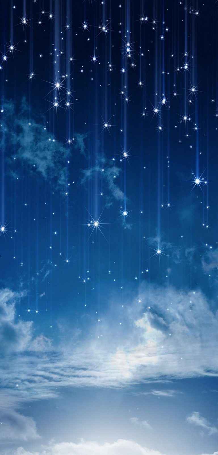 Sky Moonlight Nature Night Stars Clouds 1080x2244 768x1596