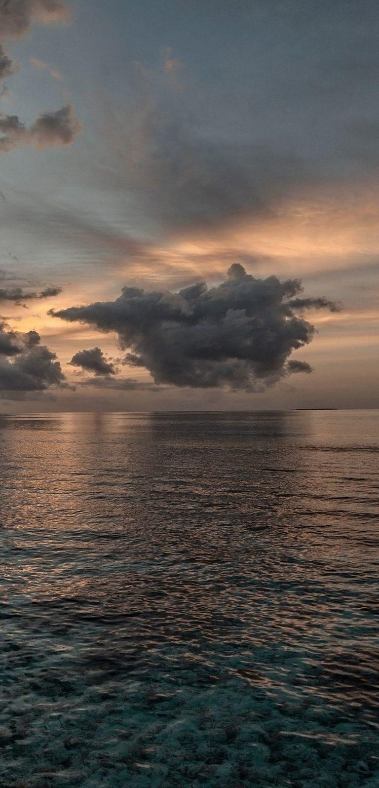 Sunset Sea Sky Ol Landscape 1080x2244 768x1596