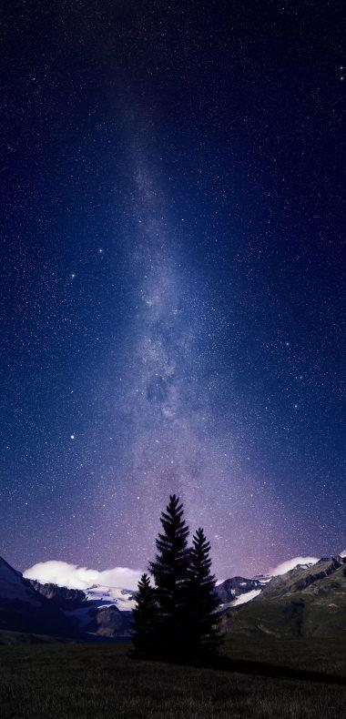 Swiss Alps Night Sky 1080x2244 380x790