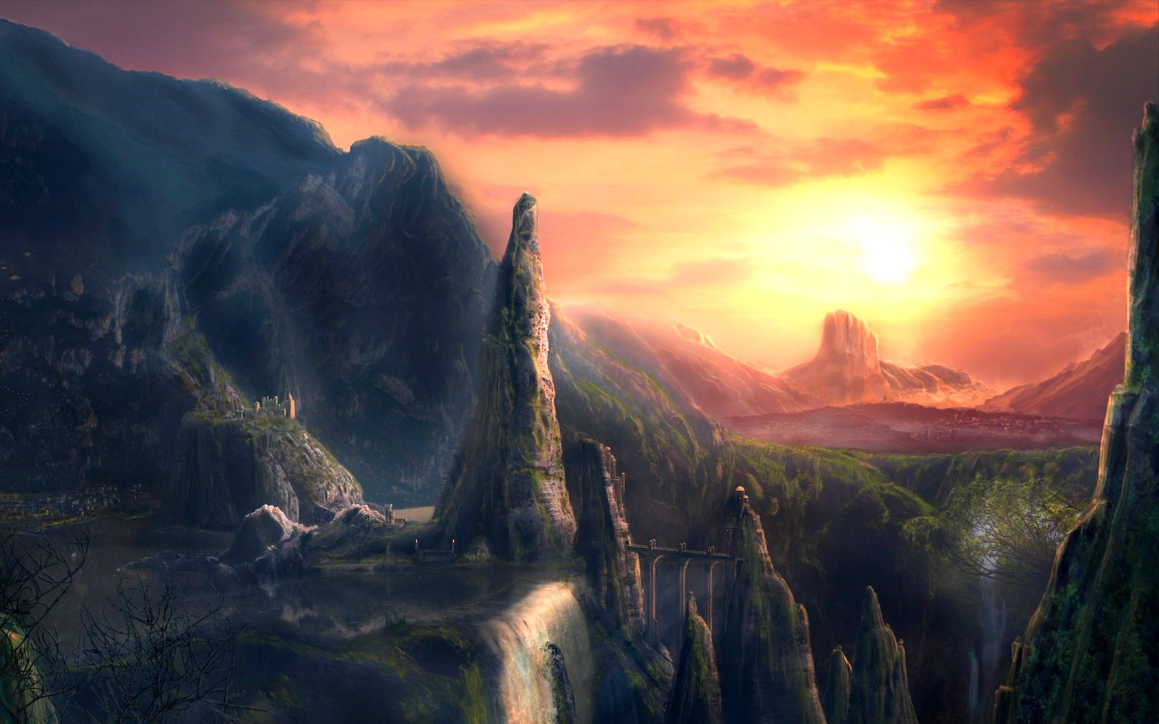 fantasy, Landscape, Art, Artwork, Nature, Scenery