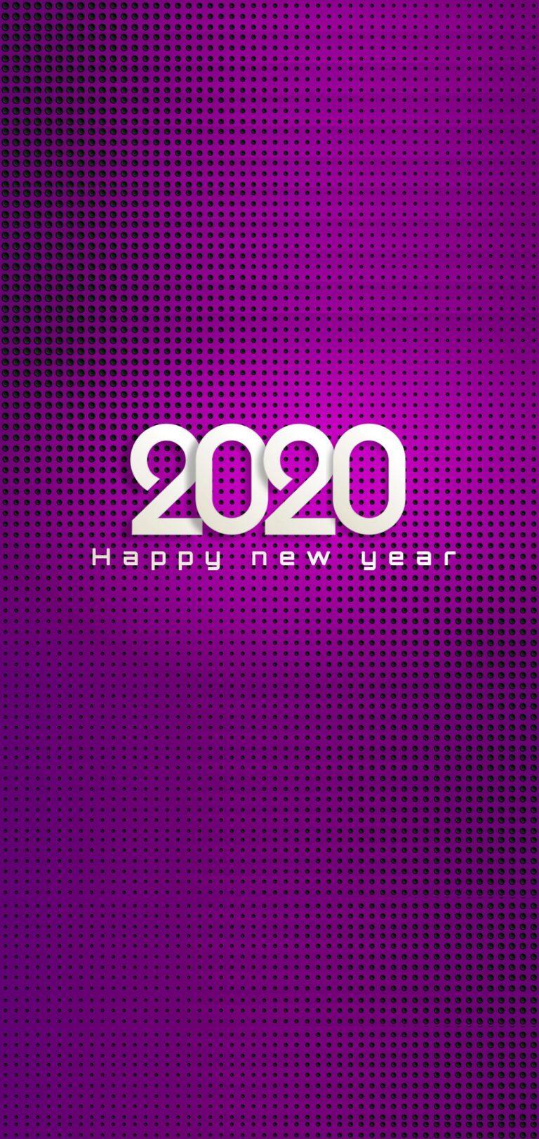 Happy New Year 2020 Phone Wallpaper 01 - [1080x2280]