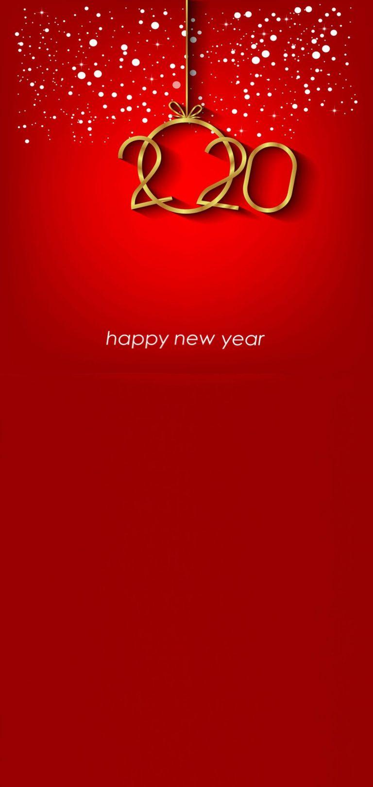 Happy New Year 2020 Phone Wallpaper 02 - [1080x2280]