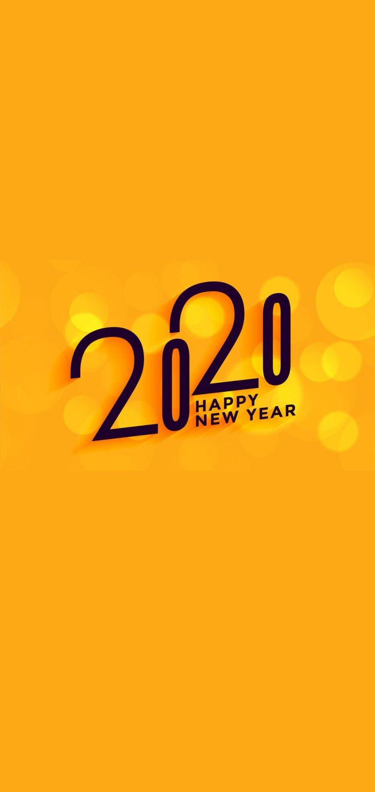 Happy New Year 2020 Phone Wallpaper 03 - [1080x2280]
