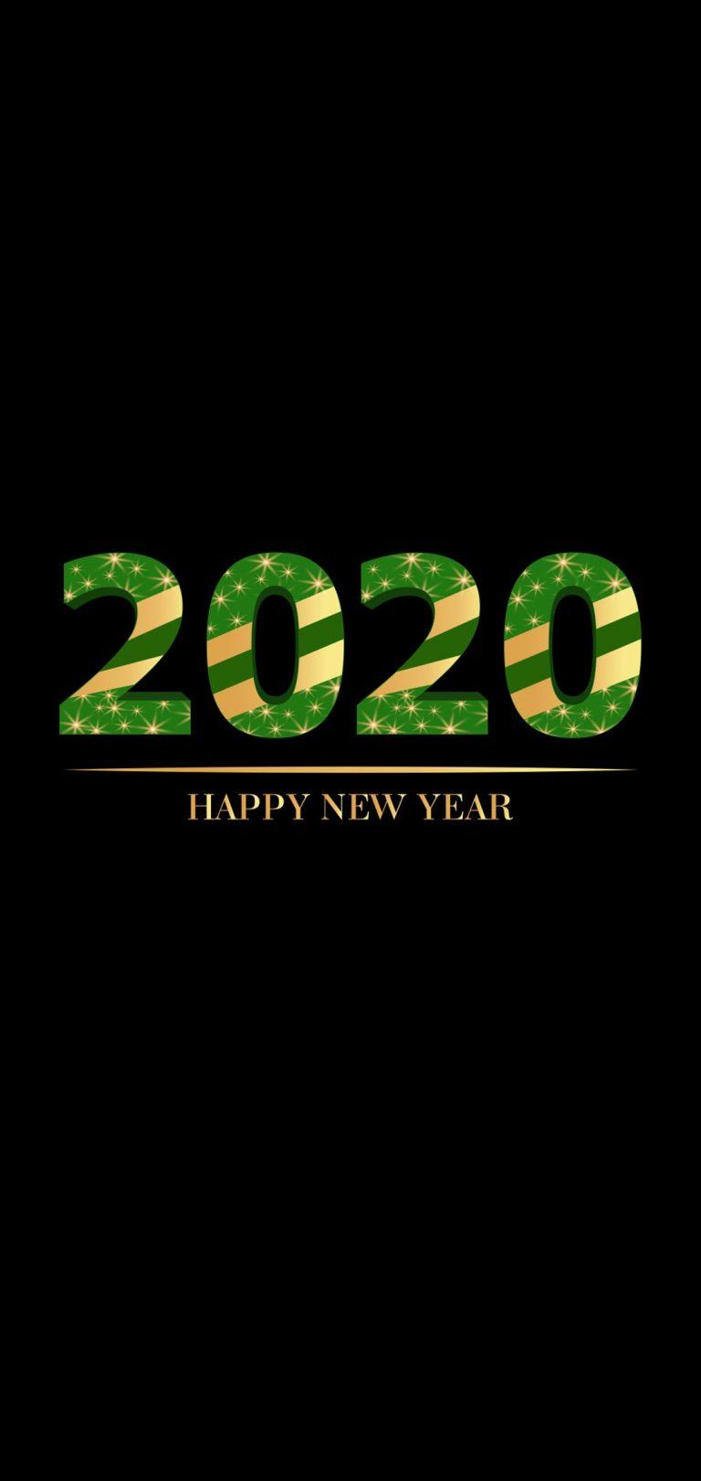 Happy New Year 2020 Phone Wallpaper 04 - [1080x2280]