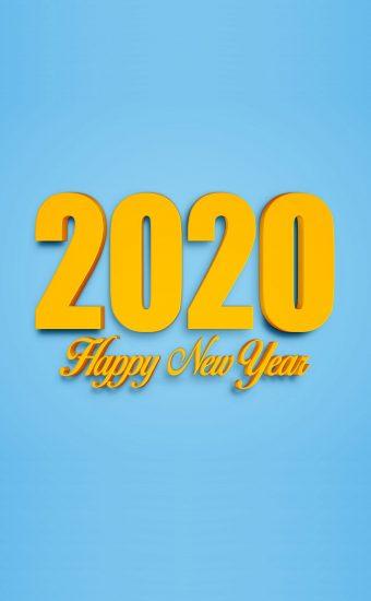 Happy New Year 2020 Phone Wallpaper 11 - [1080x2280]