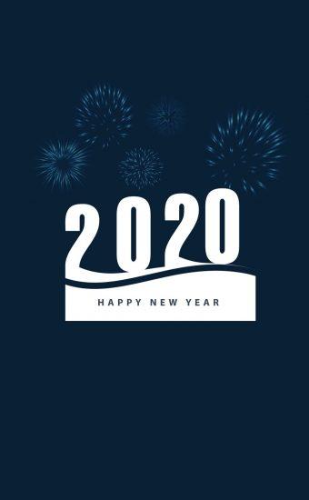 Happy New Year 2020 Phone Wallpaper 13 - [1080x2280]