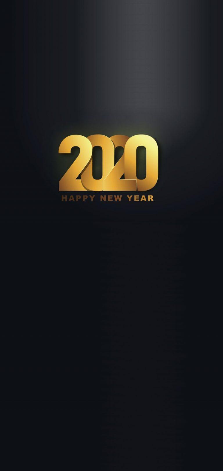 Happy New Year 2020 Phone Wallpaper 17 - [1080x2280]