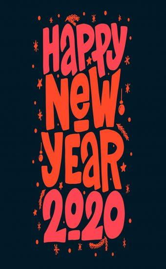 Happy New Year 2020 Phone Wallpaper 22 - [1080x2280]