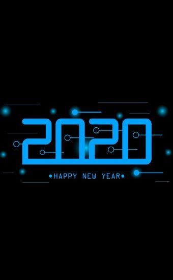 Happy New Year 2020 Phone Wallpaper 31 - [1080x2280]