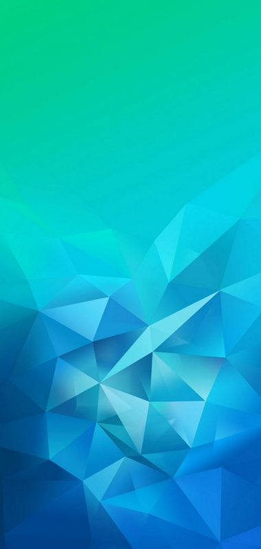 3D Blue Green Blur Polygon 1080x2270 380x799