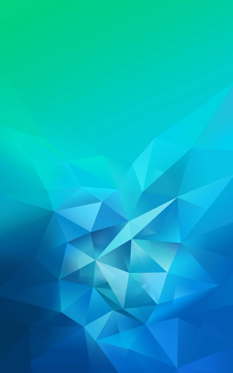 3D Blue Green Blur Polygon 800x1280 768x1229