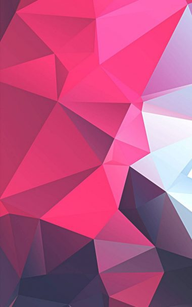 3D Pink Polygon 800x1280 380x608