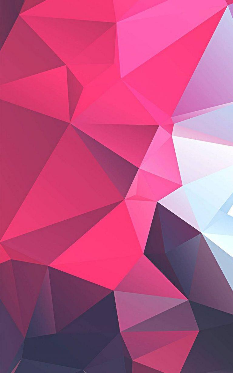 3D Pink Polygon 800x1280 768x1229