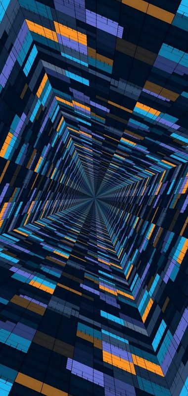Abstract 3D Blocks 1080x2270 380x799